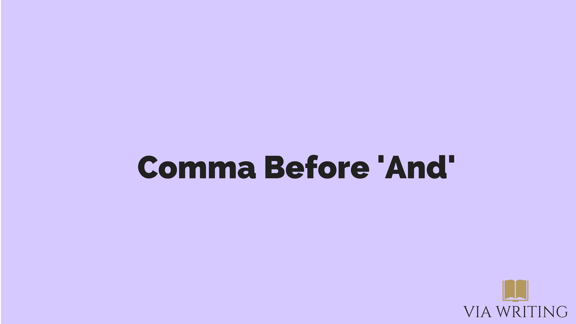 Comma Before And